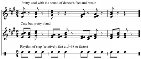 Ho Wen Yang's example of multiplying rather than dividing the beat in a warm-up jump