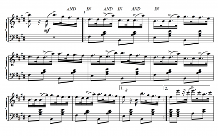 Try this (at a slow speed) for tendus with the accent in. It's fun.